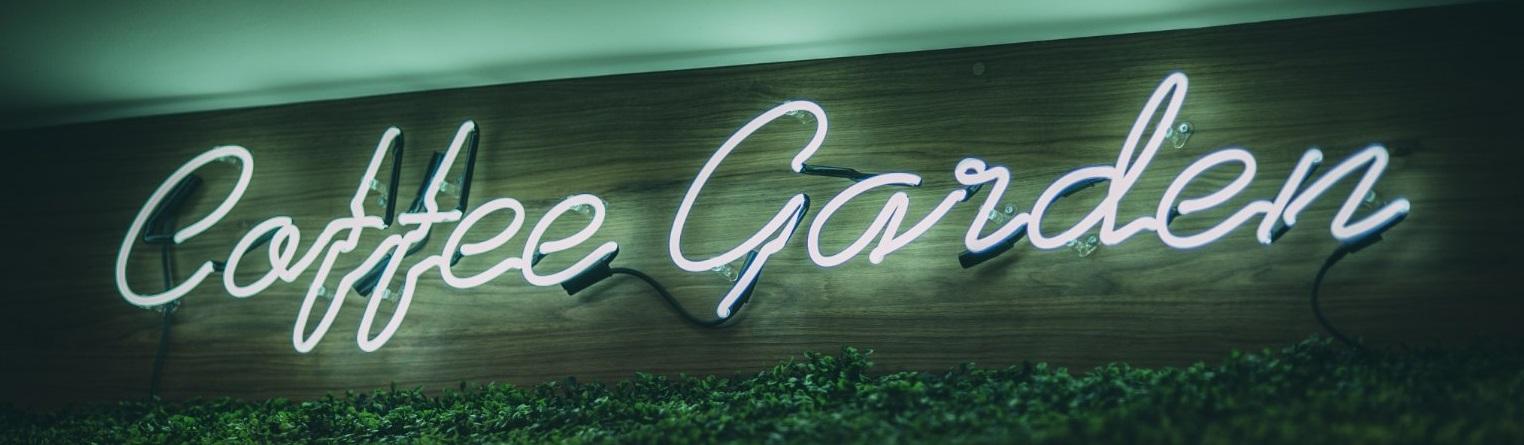coffee garden neon